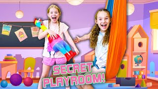 We Found a SECRET PLAYROOM in our House !!!
