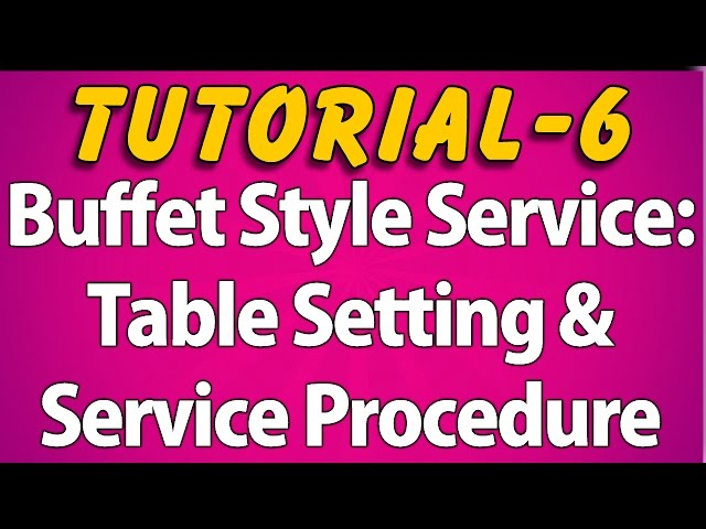 Buffet-style-service-table