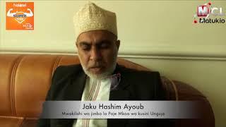MBUNGE JAKU ALISHUKIA BARAZA LA WAWAKILISHI ZANZIBAR