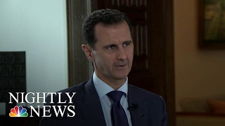 Syrian President Bashar Al-Assad Defends Record In Country's Civil War   NBC Nightly News