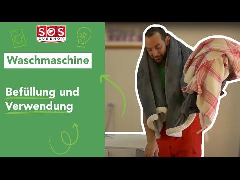 Wie füllt man seine frontlader-waschmaschine richtig ?