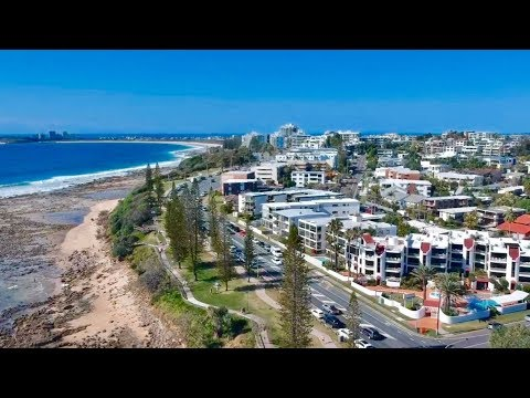 Drone shot of area surrounding surf at the Bluff