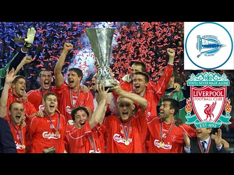 LIVERPOOL VS ALAVES  5 - 4 ||| UNMISSABLE UEFA CUP FINAL 2001 EXTRA TIME GOLDEN GOAL WINNER