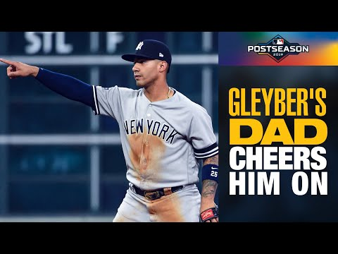 Gleyber Torres' Dad reacts to Yankees' young star's big moments in ALCS Game 1