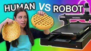 Human VS Robot PANCAKE ART CHALLENGE // Taking Your Requests
