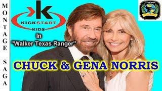 CHUCK & GENA NORRIS: KICKSTART KIDS in Walker Texas Ranger - Montage Saga HD.