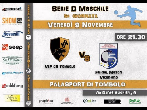 Preview video 5° GIORNATA: VIP c5 Tombolo - Futsal Mason Vicentino  0-0