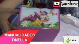 "Manualidades: Cajita Trupan para Cumpleaños - By :""Taller Dnella ""2014"