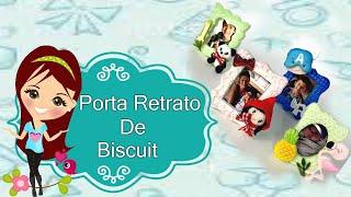 Porta Retrato de Biscuit - Usando o Cortador de Porta Retrato coleção Bia Cravol