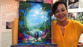 ACRYLIC PAINTING TUTORIAL | FANTASY LANDSCAPE | STEP BY STEP