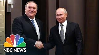President Vladimir Putin Tells Mike Pompeo He's Keen To Improve U.S.-Russian Relations | NBC News