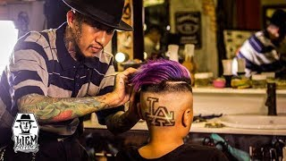 LA Tattoo Hair and Galaxy Colour | Liem Barber Shop's Collection