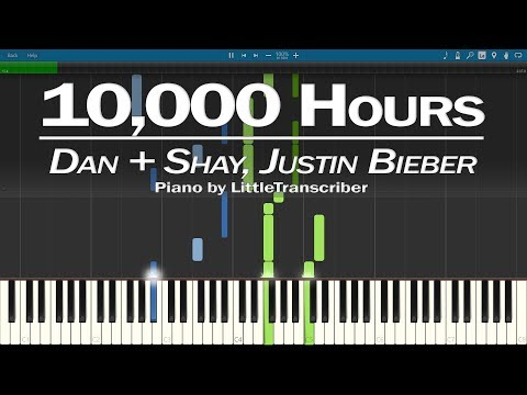 Dan + Shay, Justin Bieber - 10,000 Hours (Piano Cover) Synthesia Tutorial by LittleTranscriber