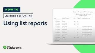 How to Use List Reports: Looking Up Customers, Vendors