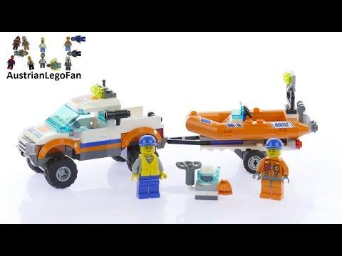 Vidéo LEGO City 60012 : Le transporteur du bateau du garde-côtes