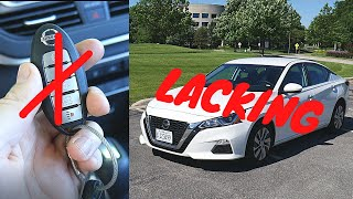 What happens when you drive the Nissan Altima without the key fob? // 100 rental cars