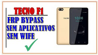 tecno f1 google account bypass android 8 1 new method - Thủ