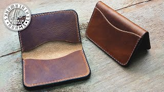 Making A Slim 3-Pocket Leather Wallet - Pattern And Build, Start To Finish!