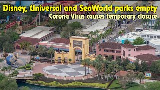 Flying Over Empty Theme Parks - Disney, Universal, SeaWorld shutdown for Coronavirus