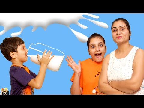 MORAL STORY FOR KIDS | DOODH | MILK CHALLENGE | #Fun #Kids #Bloopers Aayu And Pihu Show