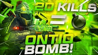 CoD BLACKOUT- GET 20 KiLLS FOR AN ONTiO DONO BOMB!!!
