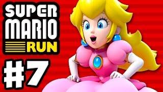 Super Mario Run - Gameplay Walkthrough Part 7 - Peach Gameplay! World 1 All Purple Coins! (iOS)