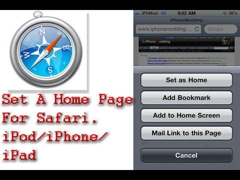 How To Set A Homepage In Safari On Your iPod/iPhone/iPad