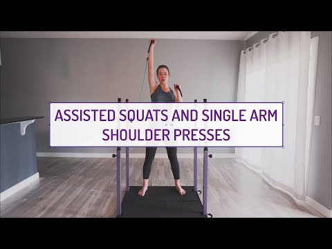 Assisted Squats and Single Arm Shoulder Presses