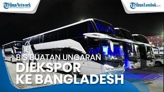 Delapan Bus Double Decker Buatan Ungaran Jawa Tengah Diekspor ke Bangladesh