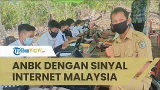 Demi Ikut ANBK, Siswa Sekolah Ini Naik Bukit & Rogoh Rp800 Ribu Beli Paket Data Operator Malaysia