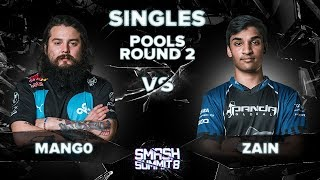 Mang0 Vs Zain   Melee Singles: Pools Round 2   Smash Summit 8 | Falco Vs Marth