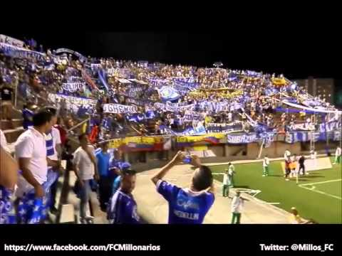 """""""Comandos Azules - Blue Rain en Envigado"""" Barra: Comandos Azules • Club: Millonarios • País: Colombia"""