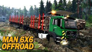 Ampun Jalannya!! Offroad Truck Man 6x6 Trailer Panjang Masuk Lumpur