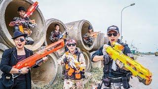 LTT Nerf War : Couple SEAL X Warriors Nerf Guns Fight Dr Lee Group Shipping Area