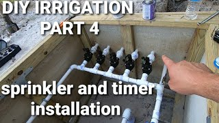 DIY irrigation part 4 valve manifold build-controller and sprinkler install