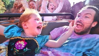 Surprising Adley with DiSNEYLAND! Niko on Rides, Kids meet Disney Princesses, Ultimate Best Day Ever
