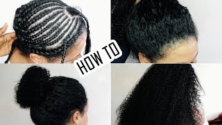 HOW TO: Natural Looking Sew In Weave ONLY 30 MINUTES