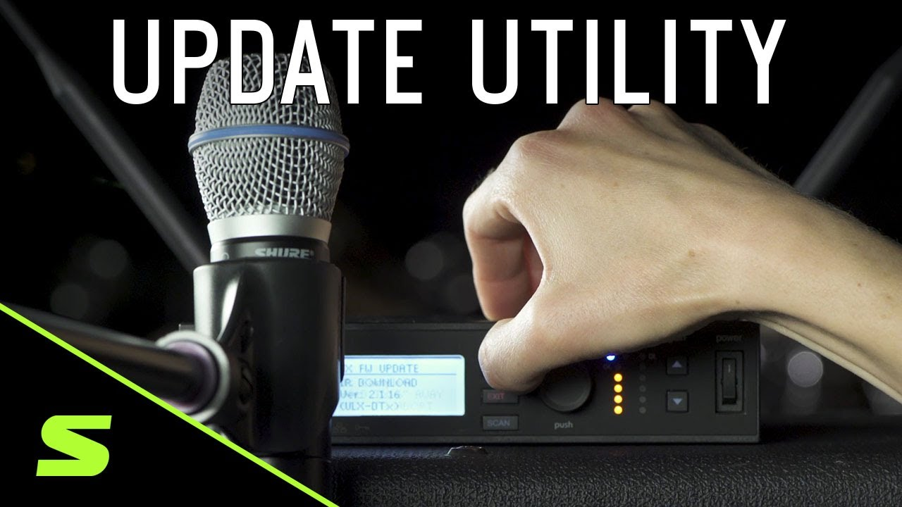 How to update Shure firmware using the Shure Update Utility (SUU)