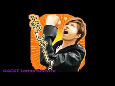 GACKT LINE Stickers+Voz+DOWNLOAD/DESCARGA