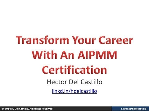 Transform Your Career With an AIPMM Certification - YouTube