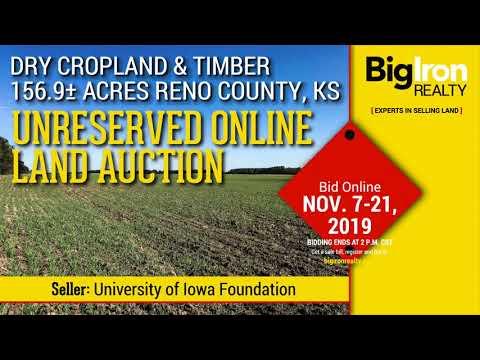 November 21, 2019 Land Auction 156.9+/- Acres Reno County, Kansas