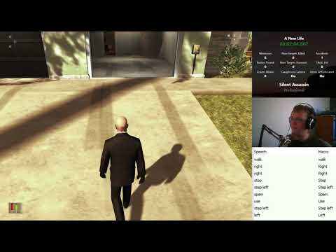 This guy finished a level of Hitman just with voice commands