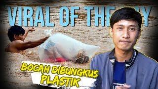 VIRAL OF THE DAY: Anak-anak Dibungkus Plastik untuk Seberangi Sungai Demi Bersekolah