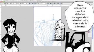 Cómo Dibujar Manga con Sen y Kai - Dibujos de Edificios Perspectiva de 2 y 3 Puntos