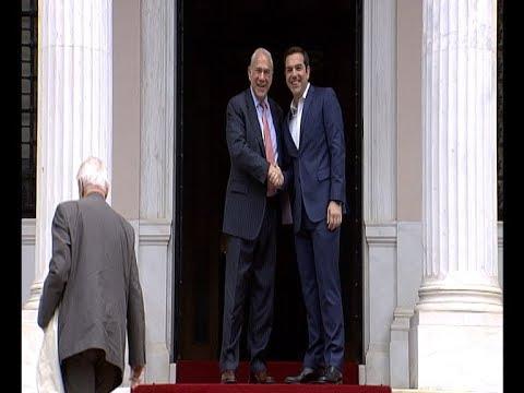 Συνάντηση του πρωθυπουργού με τον γ.γ του ΟΟΣΑ, Α. Γκουρία
