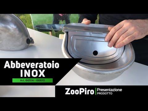 ZooPiro - Abbeveratoio automatico in acciaio inox per cani, pecore, capre, vitelli e suinetti