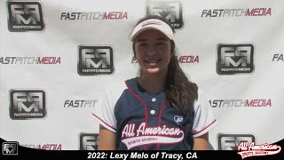 2022 Lexy Melo Outfield and First Base Softball Player Skills Video - AASA Pikas