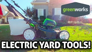 Ultimate Electric Yard Tools!! Greenworks REVIEW