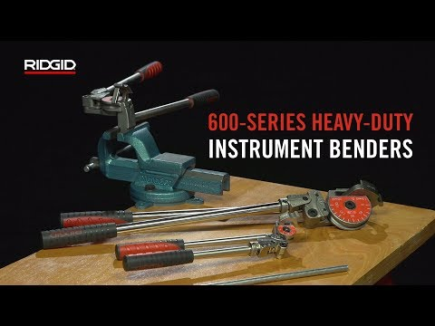 600 Series Heavy Duty Instrument Benders Ridgid