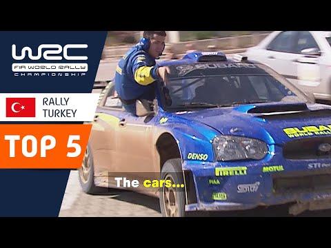 WRCトルコ。歴代の名場面の中からベスト5シーンを集めたダイジェスト動画